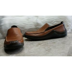 COLE HAAN Tucker Venetian Leather Loafers Tan  8